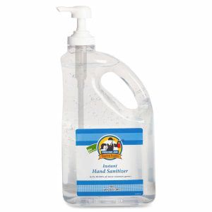 Genuine Joe Gel Hand Sanitizer, 64 oz Pump Bottle (GJO10452)