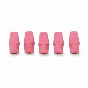 Integra Pencil Cap Erasers, f/ Standard Pencils, 144/BX, Pink (ITA36523)
