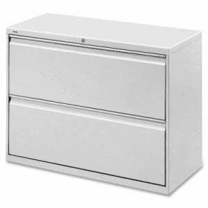 "Lorell Lateral File, 2-Drawer, 42""x18-5/8""x28-1/8"", Gray (LLR60439)"