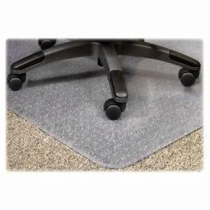 "Lorell Chairmat, Medium Pile, 45""x53"", Lip 25""x12"", Clear (LLR25756)"