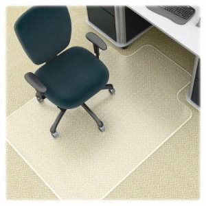 "Lorell Antistatic Chairmat, Low Pile, Lip 25""x12"", 45""x53"", CL (LLR25751)"