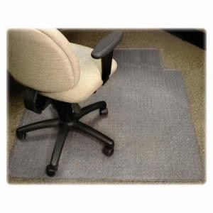 "Lorell Antistatic Chairmat, Low Pile, Lip 25""x12"", 46""x60"", CL (LLR25752)"