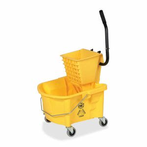 Genuine Joe 26-qt. Side Press Mop Bucket Wringer Combo, Yellow (GJO60466)