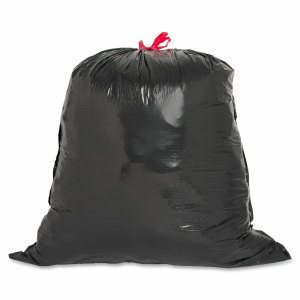 Genuine Joe 30 Gallon Black Garbage Bags, 30x32, 1.05mil, 42 Bags (GJO01230)