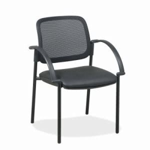 "Lorell Guest Chairs, 24""x23-1/2""x32-3/4"", Black Faux Leather Seat (LLR60462)"