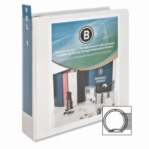 "Business Source Standard View Binder, 2"" Capacity, 11""x8-1/2"", White (BSN09985)"