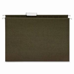 Business Source Hanging Folder, 1/5 Tab, Letter, 25 per Box, Green (BSN17533)