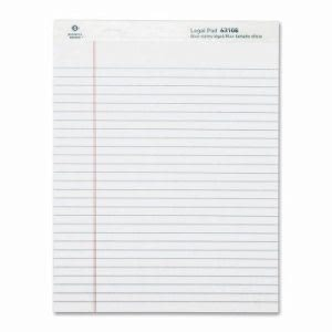 Business Source Pads, Legal Ruled, 50 Sheet, 12 per Pack, White (BSN63108)