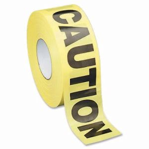 "Sparco Barricade Tape, ""Caution"", Non-Adhesive, 3""x1000', YW/Black (SPR11795)"