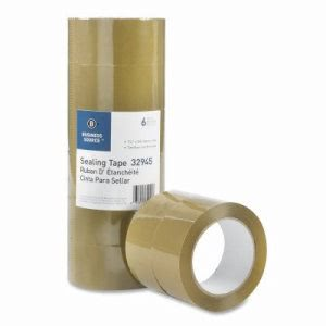"Business Source Packing Tape, 3.54mil, 3"" Core, 164 feet, 6 per Pack (BSN32945)"