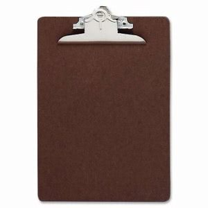 "Business Source Clipboard, w/ Standard Metal Clip, 6""x9"", Brown (BSN16506)"