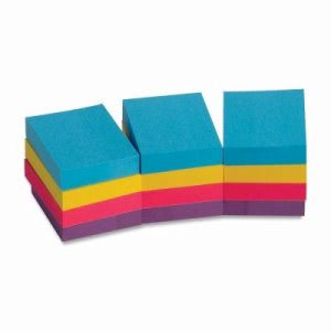 "Business Source Adhesive Notes,1-1/2""x2"",100 Sh/PD,12PD/PK, Assorted (BSN16498)"