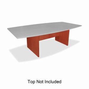 "Lorell Conference Table Base 28""H, w/Modesty Panel, Cherry (LLR69121)"