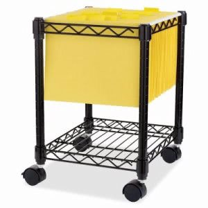 "Lorell Compact Mobile Cart, 15-1/2""x14""x19-1/2"", Black (LLR62950)"