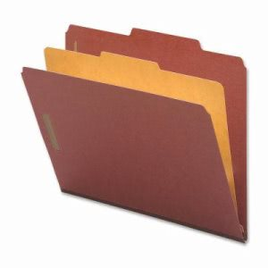 Nature Classification Folders, Letter, 1 Div, 10 per Box, Red (NAT01050)