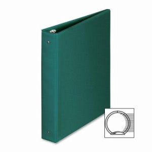 "Business Source Round Ring Binder, 1-1/2"" Capacity, 11""x8-1/2"", Green (BSN28557)"
