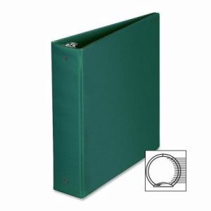 "Business Source Round Ring Binder, 2"" Capacity, 11""x8-1/2"", Green (BSN28558)"