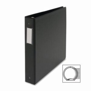 "Business Source Ring Binder,w/Label Holder, 1-1/2"" Capacity, Black (BSN28560)"