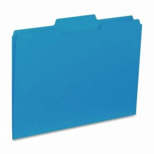"Business Source File Folder, Interior, Ltr, 1/3"" Cut, 100/BX, Blue (BSN43562)"