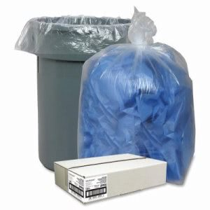 55 Gallon Clear Garbage Bags, 38x58, 1.5mil, 100 Bags (NAT29902)