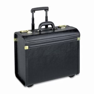 "Lorell Rolling Catalog Case, Oversized, 22""x14""x8"", Black (LLR61613)"