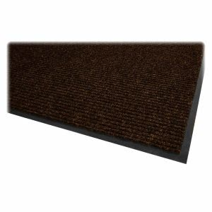 "Genuine Joe Dual Rib Carpet Surface, Vinyl Backing, 4""x6"", Chocolate (GJO02401)"