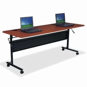 "Lorell Flipper Table, 72""x24""x29-1/2"", Cherry (LLR60667)"