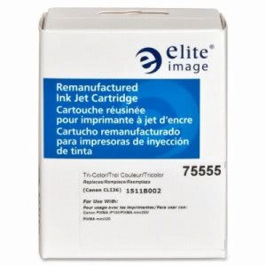 Elite Image Ink Cartridge, 100 Page Yield, Tri-Color (ELI75555)