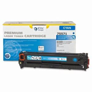 Elite Image Toner Cartridge, 1,300 Page Yield, Cyan (ELI75571)