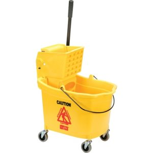 SKILCRAFT Mop Bucket/Wringer Set, 35 qt, Yellow, 1 Set (NSN3433776)