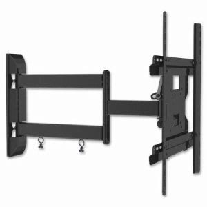 Lorell Medium Double Articulated Mount, 80lb Capacity, Black (LLR39028)