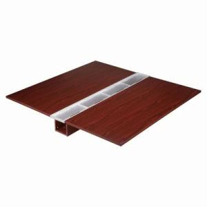 "Lorell Double Desk Top, 67""x71""x8"", Mahogany (LLR81914)"