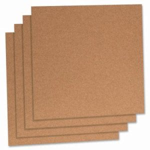 "Lorell Cork Panels, 12""x12"", 4/PK, Natural (LLR84172)"