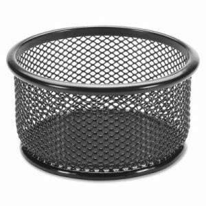"Lorell Paper Clip Holder, 3-3/4""x3-7/8"", Black Mesh (LLR84150)"