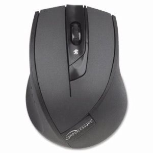 "Compucessory Wireless Mouse, 2.4G, 2-7/8""x4""x1-3/8"", Black (CCS51554)"