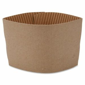 Genuine Joe Cup Sleeves, 10-16-oz., Corrugated, 50/PK, Brown (GJO19049PK)