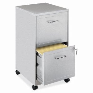 Lorell 2-Drawer Mobile File Cabinet, 14-1/4 x 18 x 24-1/2 (LLR16873)