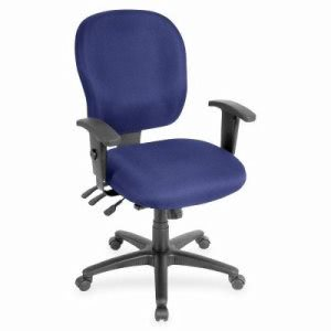 "Lorell Mulitfunction Swivel Chair, 27""x25""x17"", Blueberry (LLR3310010)"
