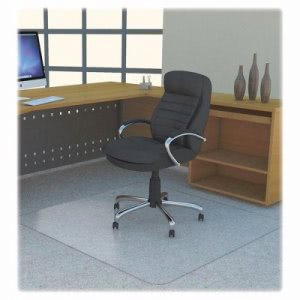 "Lorell Studded Chairmat, Polycarbonate, 46""x60"", Clear (LLR69705)"