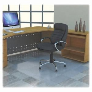 "Lorell Hardfloor Chairmat, PC, Non-Stud, 45""x53"", Clear (LLR69707)"