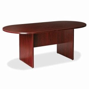 "Lorell Conference Table, 71""x36""x29"", Mahogany (LLR79128)"