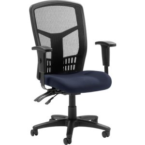 "Lorell Exec High-Back Chair, Mesh, 28-1/2""x28-1/2""x45, Periwinkle (LLR8620001)"