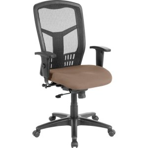 "Lorell Exec High-Back Swivel Chair, 28-1/2""x28-1/2""x45"", Malted (LLR8620503)"