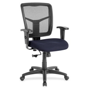 "Lorell Mid-Back Chair, 25-1/4""x23-1/2""x40-1/2"", Blueberry (LLR8620910)"