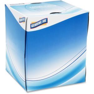 Genuine Joe Cube Box Facial Tissue, 2-Ply, White, 36 Boxes (GJO26085)