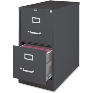 Lorell 2-Drawer Vertical File Cabinet, Steel, Charcoal (LLR66911)