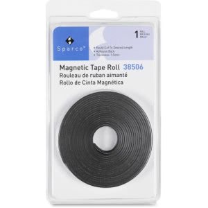 "Business Source Magnetic Tape Roll,  Adhesive Back, 1/2"" x 10'  (BSN38506)"