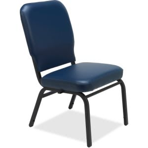 Lorell Vinyl Back/Seat Oversized Stack Chairs (LLR59595)