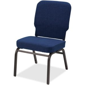 Lorell Fabric Back/Seat Oversized Stack Chairs, Blue, 2 Chairs (LLR59598)
