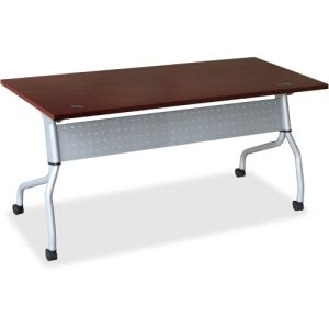 Lorell Mahogany Flip Top Training Table (LLR60718)